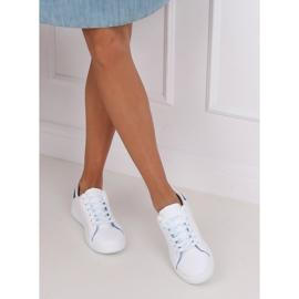 White 5G-2 Blue women's sneakers 5