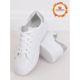 White women's sneakers C941 Silver 1