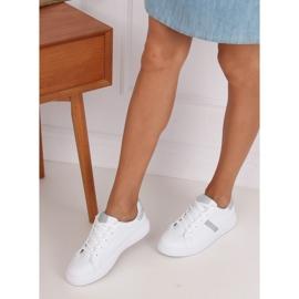 White women's sneakers C941 Silver 3