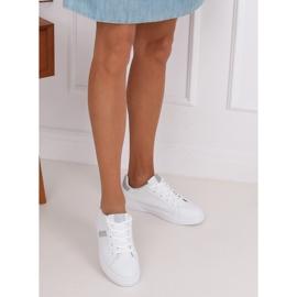 White women's sneakers C941 Silver 4
