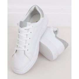 White women's sneakers C941 Silver 2