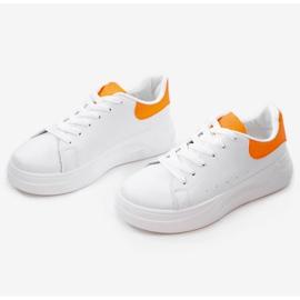 White shiny sneakers LLQ204-3 orange 3