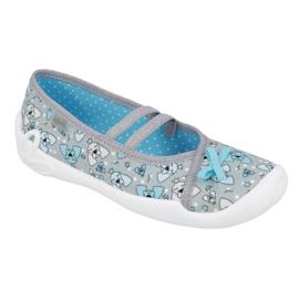 Befado children's shoes 116Y274 blue grey 1