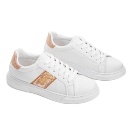 Classic white sneakers BK929-87 yellow 1
