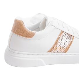 Classic white sneakers BK929-87 yellow 2