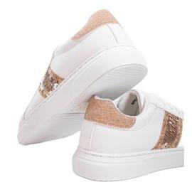 Classic white sneakers BK929-87 yellow 3
