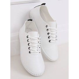 Women's black and white sneakers 6165 Black 2