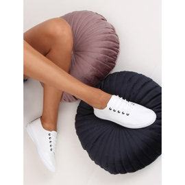 Women's black and white sneakers 6165 Black 3