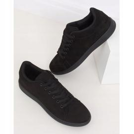 Black suede black women's sneakers 6301 2