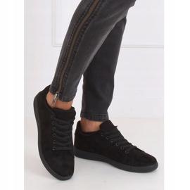Black suede black women's sneakers 6301 5