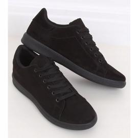 Black suede black women's sneakers 6301 3
