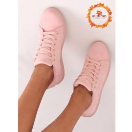 Women's pink suede sneakers 6301 Pink 1