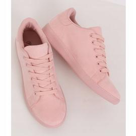 Women's pink suede sneakers 6301 Pink 2