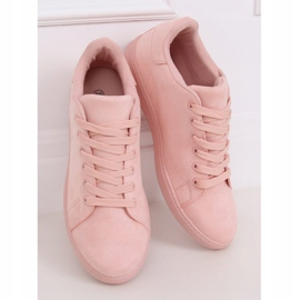 Women's pink suede sneakers 6301 Pink 3