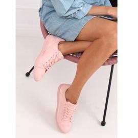 Women's pink suede sneakers 6301 Pink 4