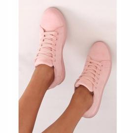 Women's pink suede sneakers 6301 Pink 5