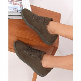 Green suede women's sneakers 6301 Green 4