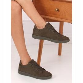 Green suede women's sneakers 6301 Green 3