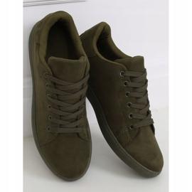 Green suede women's sneakers 6301 Green 1
