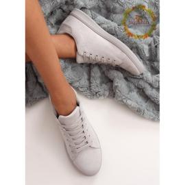 Gray suede gray women's sneakers 6301 grey 1