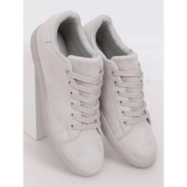 Gray suede gray women's sneakers 6301 grey 2