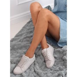 Gray suede gray women's sneakers 6301 grey 3