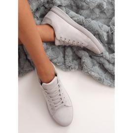 Gray suede gray women's sneakers 6301 grey 4