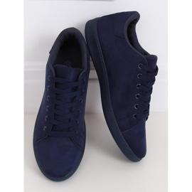 Navy blue suede women's sneakers 6301 1