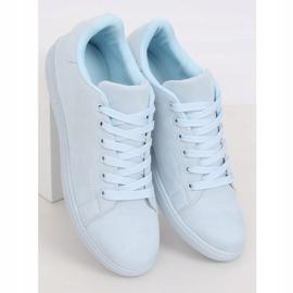 Women's blue suede sneakers 6301 L.BLUE 1