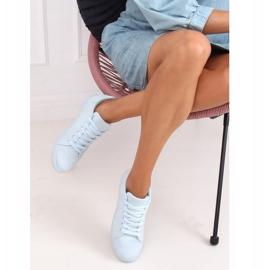 Women's blue suede sneakers 6301 L.BLUE 2