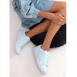 Women's blue suede sneakers 6301 L.BLUE 3