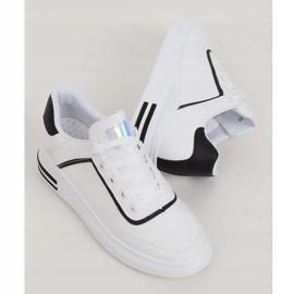 White women's sneakers 1239-Y Black 1