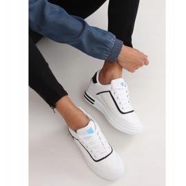 White women's sneakers 1239-Y Black 2