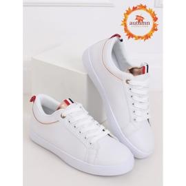 White women's sneakers B0-501 WHITE / CHAMPAGNE 1