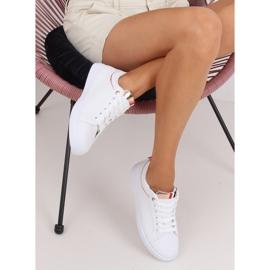White women's sneakers B0-501 WHITE / CHAMPAGNE 4