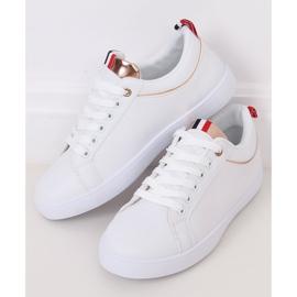 White women's sneakers B0-501 WHITE / CHAMPAGNE 3