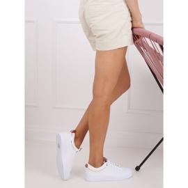 White women's sneakers B0-501 WHITE / CHAMPAGNE 5