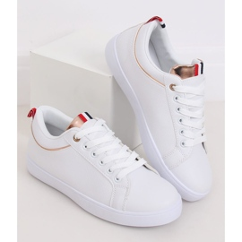 White women's sneakers B0-501 WHITE / CHAMPAGNE 2