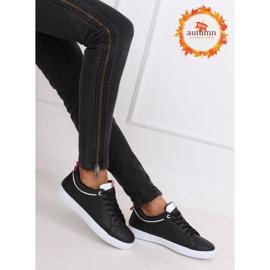 Black women's sneakers B0-501 Black 1