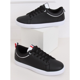 Black women's sneakers B0-501 Black 3