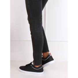 Black women's sneakers B0-501 Black 4