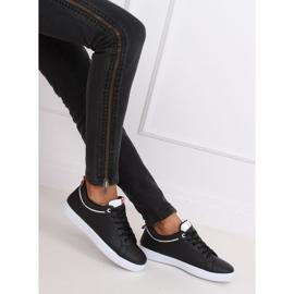 Black women's sneakers B0-501 Black 5