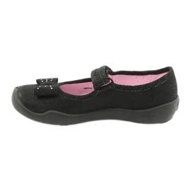 Befado children's footwear ballerina slippers 114x240 black silver 1