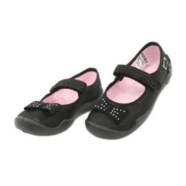 Befado children's footwear ballerina slippers 114x240 black silver 2