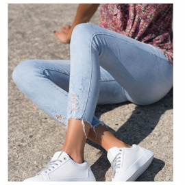 SHELOVET Sneakers With Decorative Laces white 4