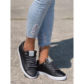 SHELOVET Sneakers With Decorative Laces black 1