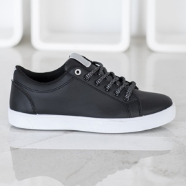 SHELOVET Sneakers With Decorative Laces black 2