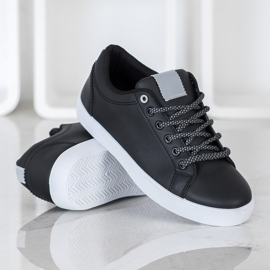 SHELOVET Sneakers With Decorative Laces black 4