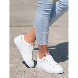 SHELOVET Stylish Sneakers With Eco Leather white 3