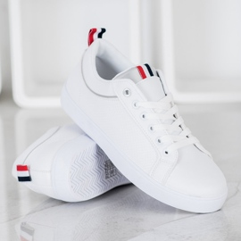 SHELOVET Stylish Sneakers With Eco Leather white 1